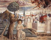 The Expulsion of the Devils from Arezzo, 1452, gozzoli