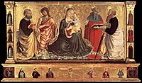 Madonna and Child with Sts John the Baptist, Peter, Jerome, and Paul, 1456, gozzoli