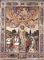 Martyrdom of St. Sebastian, 1465, gozzoli