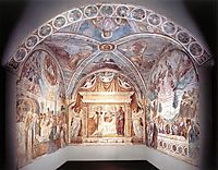 Overall view of the Tabernacle of the Madonna delle Tosse, 1484, gozzoli