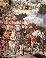 Procession of the Magus Balthazar (detail), 1461, gozzoli