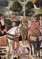 Procession of the Magus Caspar (detail), 1461, gozzoli