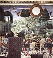Procession of the Magus Melchior (detail), 1461, gozzoli