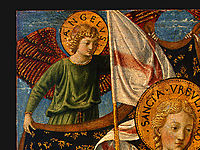 Saint Ursula with Angels and Donor (detail), 1455, gozzoli