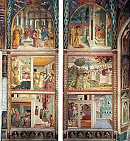 Scenes from the Life of St. Francis (north wall), 1452, gozzoli