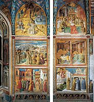 Scenes from the Life of St. Francis (south wall), 1452, gozzoli