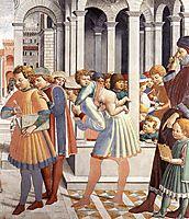 The School of Tagaste (detail), 1465, gozzoli