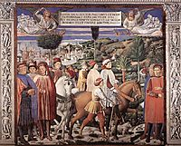 St. Augustine Departing for Milan, 1465, gozzoli
