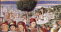 St. Augustine Departing for Milan (detail), 1465, gozzoli