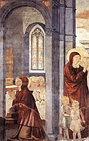 St. Augustine Leaving His Mother, 1465, gozzoli