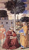 St. Augustine Reading the Epistle of St. Paul, 1465, gozzoli