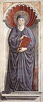 St. Monica, 1465, gozzoli