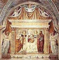Tabernacle of the Madonna delle Tosse: Maria lactans, 1484, gozzoli