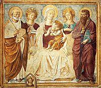 Tabernacle of the Madonna delle Tosse: Maria lactans (detail), 1484, gozzoli