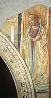 Tabernacle of the Visitation: Annunciation: Mary, 1491, gozzoli