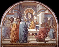 Tabernacle of the Visitation: Expultion of Joachim from the Temple, 1491, gozzoli