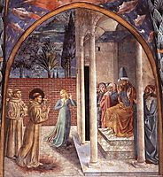 Trial by Fire Before the Sultan, 1452, gozzoli
