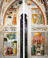 Upper Portions of the East (window) Wall, 1465, gozzoli