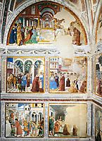 View of the Left Hand Wall of the Chapel, 1465, gozzoli
