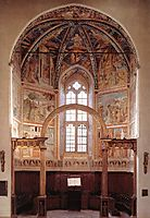 View of the Main Apsidal Chapel, 1452, gozzoli