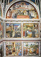 View of the Right Hand Wall of the Chapel, 1465, gozzoli