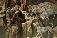 The Vigil of the Shepherds (detail), gozzoli