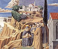 Visit to the Monks of Mount Pisano, 1465, gozzoli