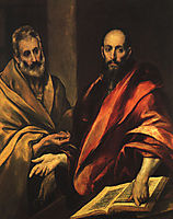 Apostles Peter and Paul, 1592, greco