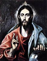 Christ blessing (The Saviour of the World) , c.1600, greco