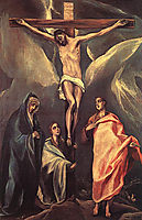 Christ on the cross with two Maries and St. John, 1588, greco