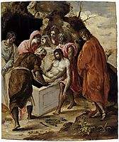 Deposition in the tomb, c.1575, greco