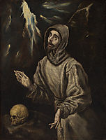 The Ecstasy of St. Francis of Assisi, c.1600, greco