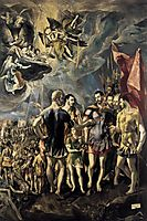 Martyrdom of St. Maurice and His Legions, 1581, greco