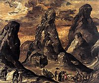 Mount Sinai , 1570, greco