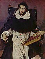 Portrait of Fray Hortensio Felix Paravicino, 1609, greco