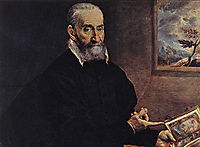 Portrait of Giulio Clovio, 1572, greco