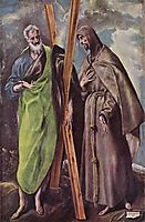 St. Andrew and St. Francis, 1604, greco