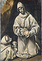 St. Francis and brother Leo meditating on death , c.1600, greco