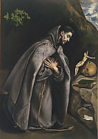St. Francis praying, 1595, greco