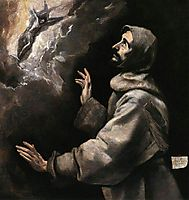 St. Francis receiving the stigmata, c.1590, greco