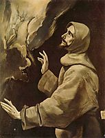 St. Francis receiving the stigmata, c.1578, greco