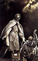 St Francis-s vision of the flaming torch, c.1605, greco