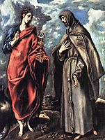 St. John the Evangelist and St. Francis, c.1608, greco