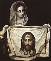 St. Veronica with the Holy Shroud, c.1580, greco