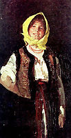 Cheerful Peasant Woman, 1894, grigorescu