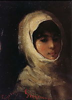 Giri with White Veil, grigorescu