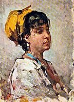 Girl With Yellow Headscarf, grigorescu