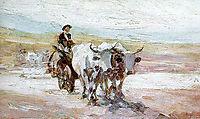 Oxcart, 1899, grigorescu