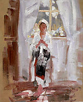 Peasant Sewing by the Window, grigorescu