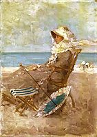 Woman on the Seashore, 1881, grigorescu